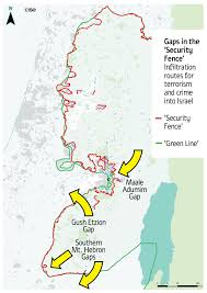 Green Line Map West Bank U2013 Two State Security