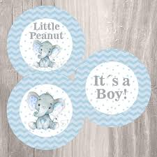 blue elephant baby shower decorations blue elephant baby shower printable centerpieces instant
