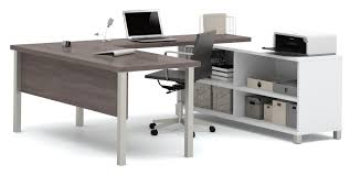 U Shape Desk Mercury Row U Shape Desk Office Suite Reviews Wayfair