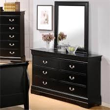 Blackhawk Bedroom Furniture by Barton Dresser Mirror Optional Black