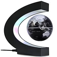 creative c shape magnetic levitation floating globe world map with