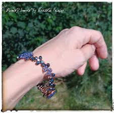 copper bead bracelet images Copper wire bangle czech glass beads purple beads blue beads ab jpg