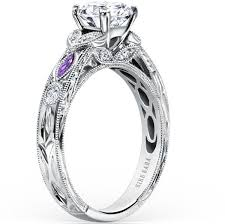 purple diamond engagement rings kirk kara dahlia marquise shape amethyst diamond engagement ring