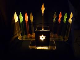 lucite menorah judaica electric lucite rainbow chanukah menorah hanukkah menorah