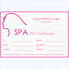 100 spa gift certificate templates word layouts