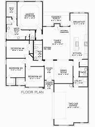 Floor Plan For New Homes by The Bellflower Seven Oaks New Home Floor Plan Burleson Texas