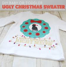 diy baby or toddler ugly christmas sweater loves glam