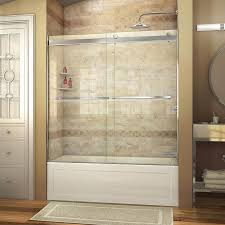 shop dreamline essence 56 in to 60 in w frameless chrome sliding