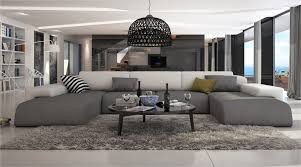 grand canapé d angle en tissu grand canapé d angle design noir intégral bapa large décos