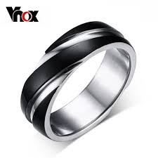 aliexpress buy vnox 2016 new wedding rings for women aliexpress buy vnox 6mm back ring for men titanium steel
