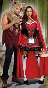 red and the wolf couples costume men u0027s bad wolf costume