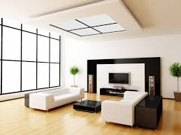 Photographing Home Interiors by Modern White Living Room With Window Roofing With Muntins Also