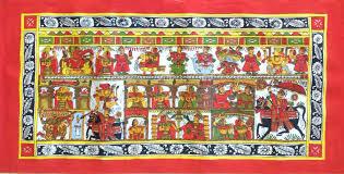phad indian painting handmade rajasthan miniature folk decor