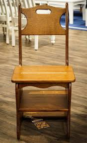 Wooden Chair Solid Wood Chair And Step Stool Combo From Dutchcrafters Amish