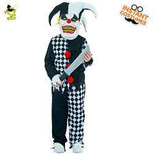 age 8 16 boys krazed jester costume mask halloween fancy dress kids clown halloween costumes ebay