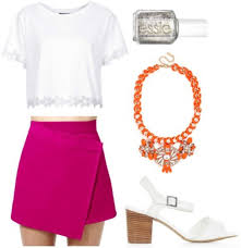color combo to try magenta orange college fashion
