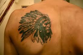 indian on shoulder blade best design ideas