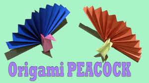 Easy Origami Peacock - how to make a paper peacock origami peacock easy tutorial