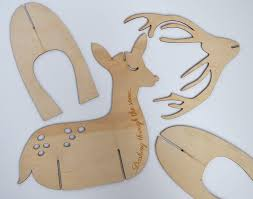 Reindeer Christmas Decoration Template by Etched Plywood Festive Reindeer Christmas Decoration By Nettyanddi
