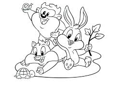 looney tunes coloring pages for kids free printable coloring