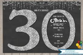 glitter birthday invitation 30th 40th 50th 60th
