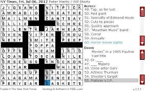 easy crossword puzzles about movies rex parker does the nyt crossword puzzle tannhäuser for one fri 7