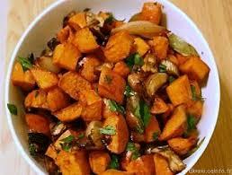 cuisiner patate douce poele sauté de patates douces aux échalotes les légumes cuisinés