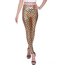 Plus Size Mermaid Leggings Hde Women U0027s High Waisted Shiny Mermaid Leggings Liquid Metallic