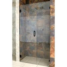 glass warehouse 58 5 in x 78 in frameless hinged glass panel