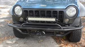 jeep bumper jeep liberty custom bumper installed youtube