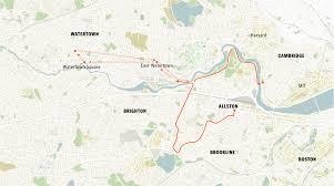 Map Of Boston Marathon Course by Marathon Bombing Timeline