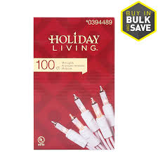 100 count mini lights shop holiday living 100 count 20 62 ft constant clear white mini