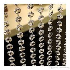 Crystal Beads For Chandelier 3 3 Feet Crystal Clear Acrylic Beads Chain Acrylic Crystal Garland
