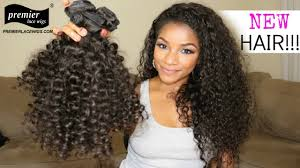 Natural Virgin Hair Extensions by 3 Bundles Deal Peruvian Virgin Hair Natural Color Candy Curl Hair
