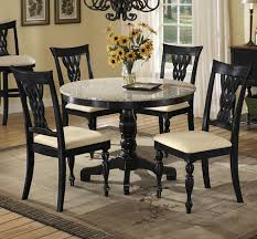 Elegant Round Dining Table Ideas Table Decorating Ideas - Granite dining room sets