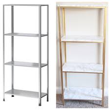 the easiest diy hack to glam your 14 99 ikea hyllis shelf unit