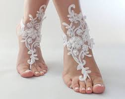 barefoot sandals wedding snow white wedding lace barefoot sandals foot