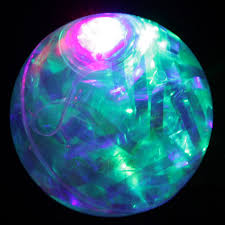 ball with light inside led rubber ball bouncing ball 65mm with colorful elements flashin
