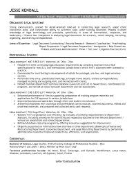 combination resume sample legal assistant paralegal example