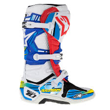 motocross boots alpinestars mx tech 10 blue yellow motocross boots graphics decal