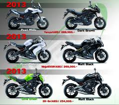 the new 2013 kawasaki 650 er6 family line up motorcycle thailand