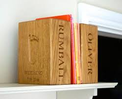 Engraved Bookends Personalised Wooden Bookends Makemesomethingspecial Com