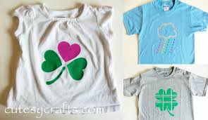 diy st patrick u0027s day shirts cutesy crafts