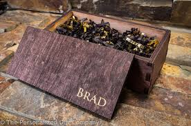 Personalized Wooden Boxes Personalized Wood Box Custom Engraved Wooden Groomsman Gift Box