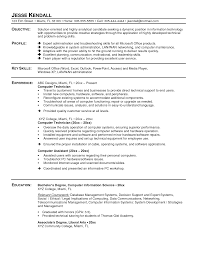Information Technology Resume Samples by Pc Technician Resume Sample 14 Computer Technician Resume