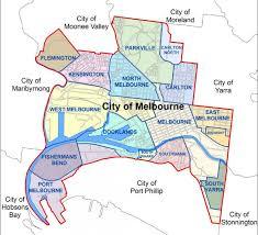 La City Map Melbourne Map Map Of Melbourne City Australia
