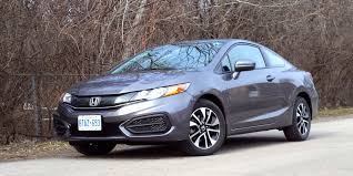 car review 2014 honda civic coupe ex driving