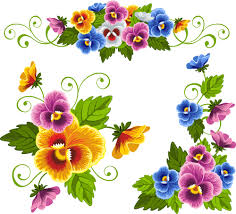 beautiful flower ornaments vector illustration vector flower