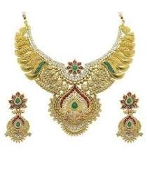 Buy Dazzling Kundan Set In Buy Dazzling Kundan Set In Red And Green With Pearls Online