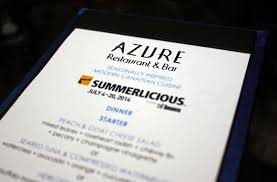 azure restaurant u0026 bar 2014 summerlicious food junkie chronicles